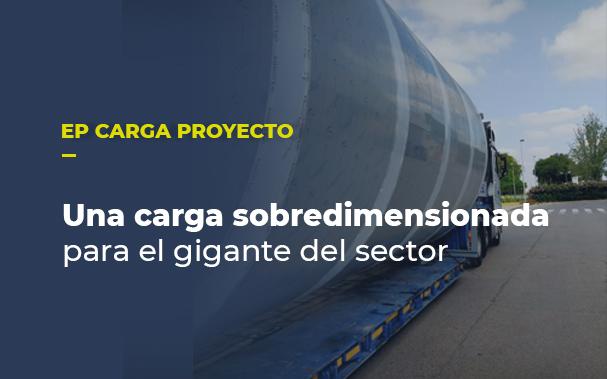 Una carga sobredimensionada para un gigante del sector. Foto de la carga.